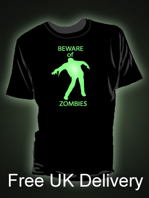 Beware of the Zombies Glow in the Dark t-shirt