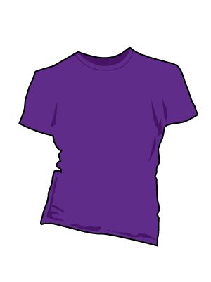 Womens Classic Fit purple t-shirt.