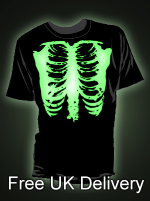 Glow In The Dark Skeleton Rib Cage T-shirt